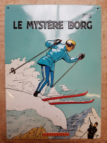 MARTIN - LE MYSTERE BORG - PLAQUE EMAILLEE - NEUF