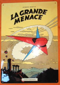 MARTIN - LA GRANDE MENACE - PLAQUE EMAILLEE - NEUF